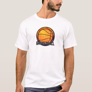 Basketball Emblem Orange Purple T-Shirt