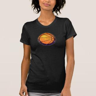 Basketball Emblem Orange Purple T-Shirt