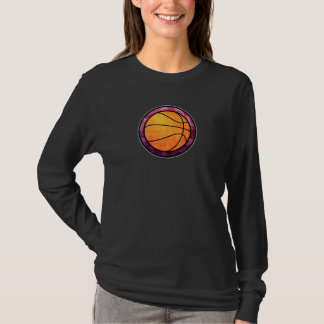 Basketball Emblem Pink Purple T-Shirt