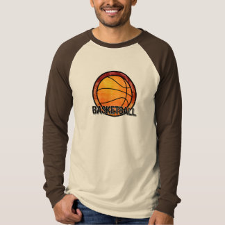 Basketball Emblem Red Orange T-Shirt