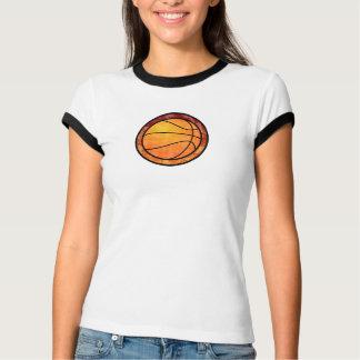 Basketball Emblem Red Orange T-Shirt