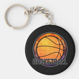 Basketball EmblemOrange Purple Keychain