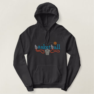 Basketball Embroidered Hooded Sweatshirts