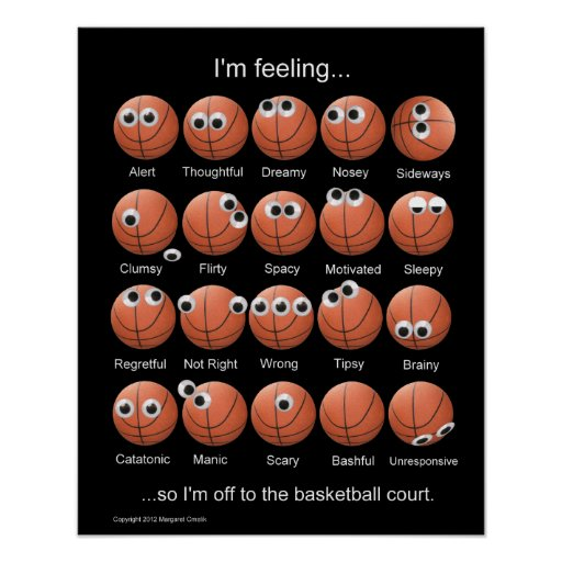 Basketball Emotions Poster Print
