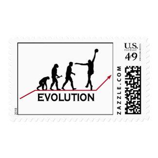 Basketball Evolution stamps