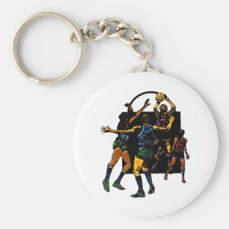 Basketball Face-off Key Chain