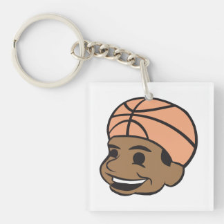 Basketball Fan 2 Keychain