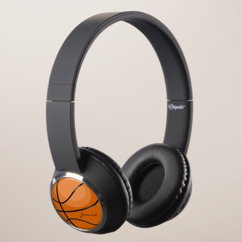 Basketball Fan Custom Name Headphones
