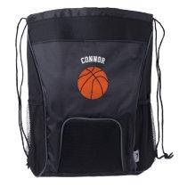 Basketball Fan Drawstring Backpack