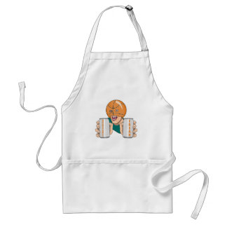 basketball fan freak adult apron