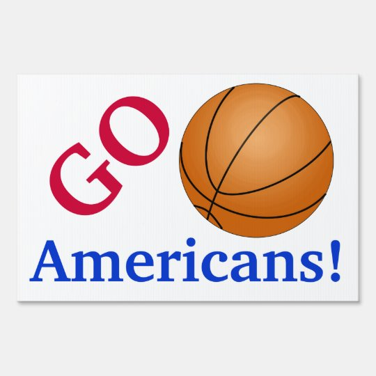 Basketball Fan Go Team Customizable Sports Lovers Yard Sign