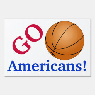 Basketball Fan Go Team Customizable Sports Lovers Lawn Signs