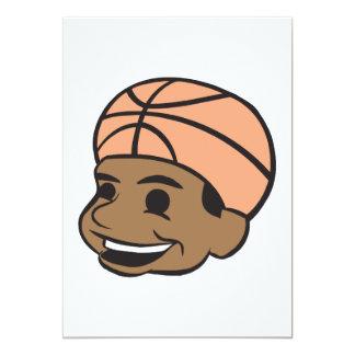 Basketball Fan 5x7 Paper Invitation Card