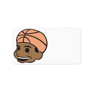 Basketball Fan Address Label