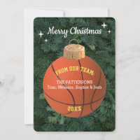 Basketball Fan Ornament Christmas Card