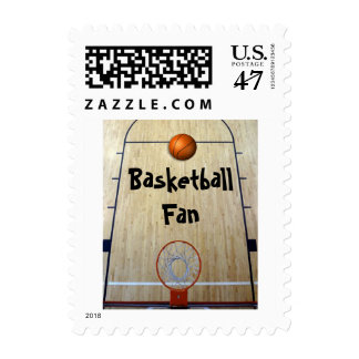 Basketball Fan Postage Stamp