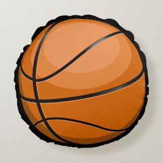 Basketball Fan Round Pillow