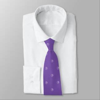 Basketball Fan Royal Purple Tie