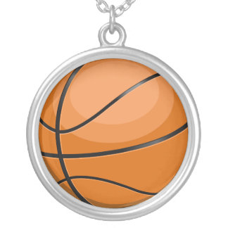 Basketball Fan Silver Plated Necklace