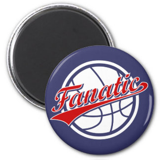 Basketball Fanatic 2 Inch Round Magnet