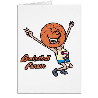basketball fanatic greeting card