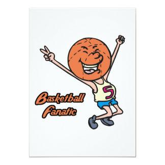 basketball fanatic 5x7 paper invitation card