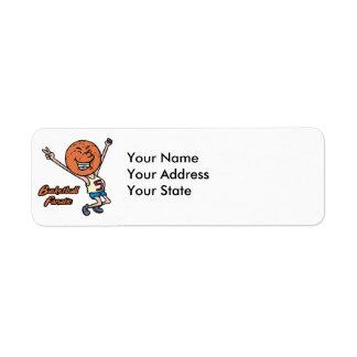 basketball fanatic return address label