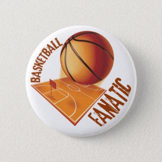 BASKETBALL FANATIC PINBACK BUTTON