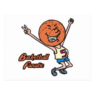 basketball fanatic postcard