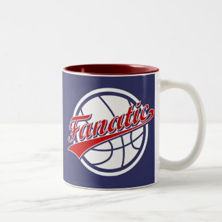 Basketball Fanatic Two-Tone Coffee Mug