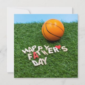 Basketball Father Day Card with basketball