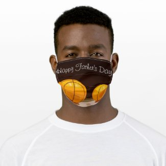 Basketball Father Day with father and son ball Cloth Face Mask