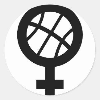 basketball female stickers