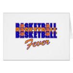 basketball fever blue and orange design cards