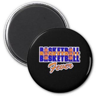basketball fever blue and orange design refrigerator magnets