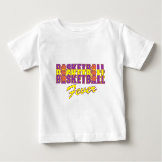 basketball fever purple and gold design baby T-Shirt