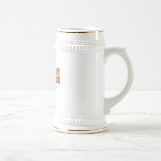 basketball fever purple and gold design beer stein