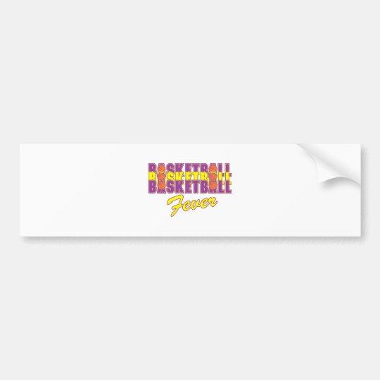 basketball fever purple and gold design bumper sticker