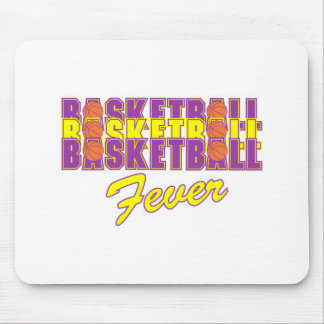 basketball fever purple and gold design mouse pad