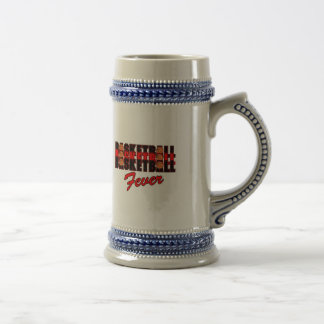 basketball fever red and black design beer stein