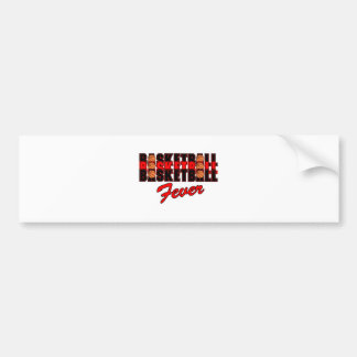 basketball fever red and black design bumper sticker