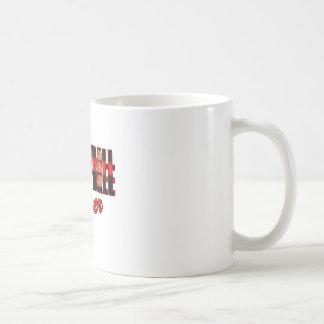 basketball fever red and black design coffee mug