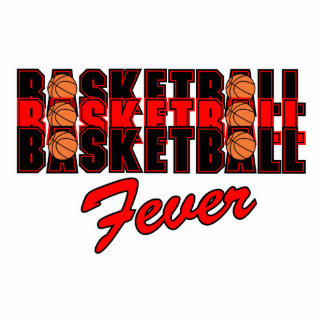 basketball fever red and black design statuette