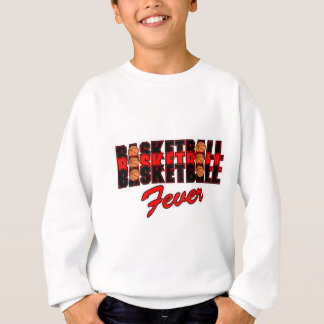 basketball fever red and black design sweatshirt