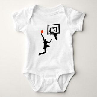 Basketball Figure Doing a Layup Baby Bodysuit