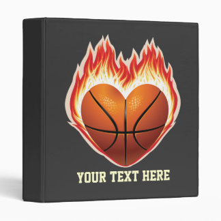 Basketball Flame Binder (personalized)