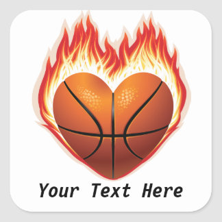 Basketball Flame Customizable Stickers