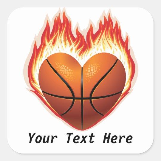 Basketball Flame Customizable Stickers Zazzle Com