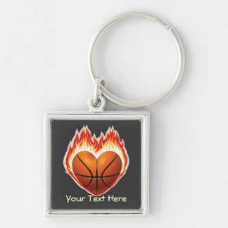 Basketball Flame Keychain (personalized)