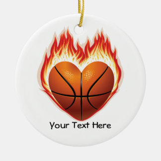 Basketball Flame Ornament (personalized)